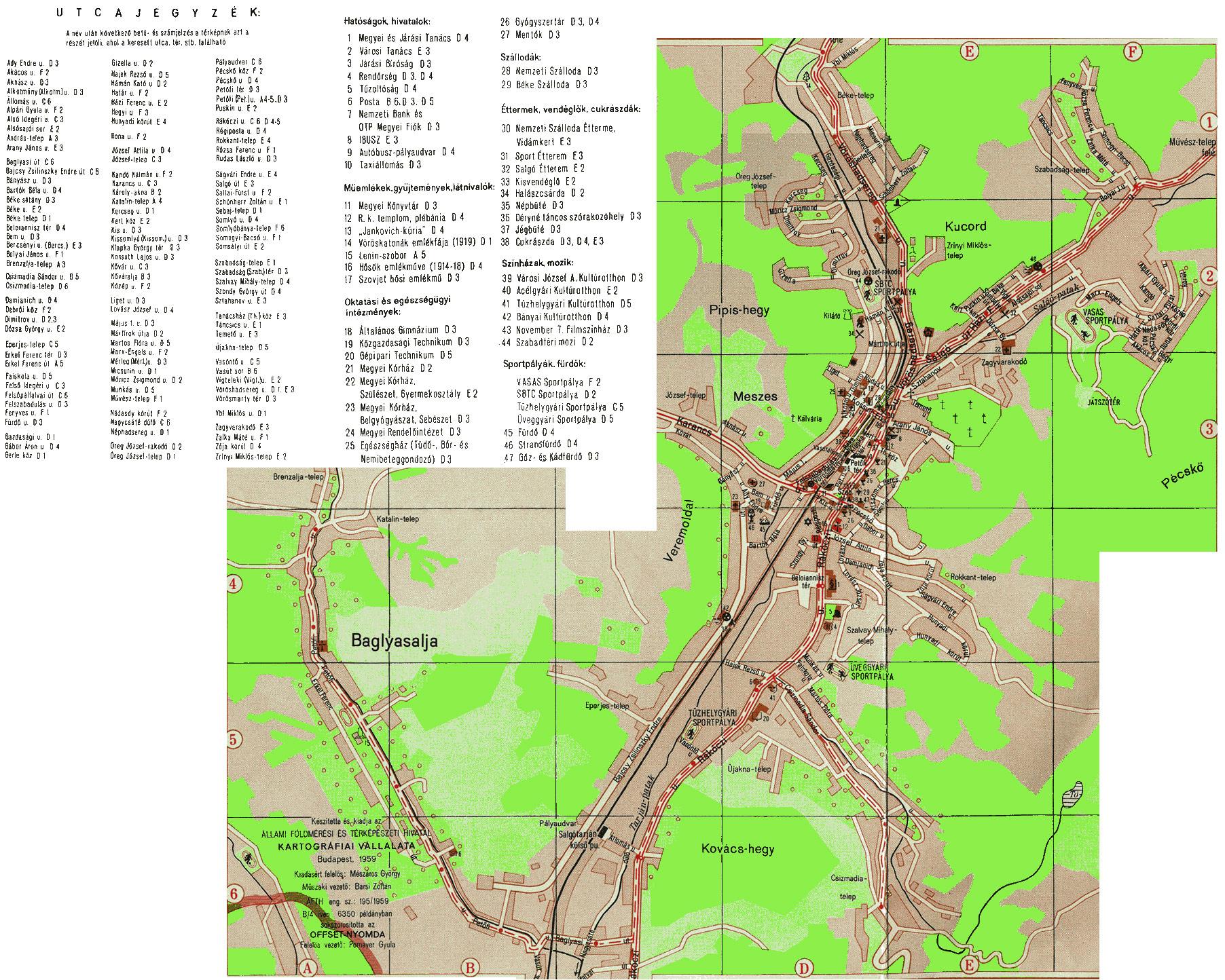 salgótarján térkép Salgótarján '60 – '70 II. – Tarjáni Képek salgótarján térkép