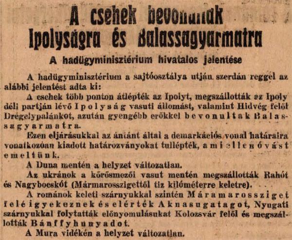 Nógrád vármegye 100 éve